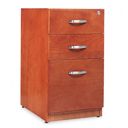 Alera RN531629CM Verona Veneer Series 16 by 22 by 28-Inch 3-Drawer Pedestal File, Cherry