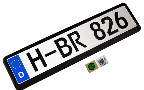 (COMPLETE Germany German EEC European Front LICENSE PLATE TAG and FRAME (Set / Kit) for BMW 1 3 5 6 7 8 Series M3 M5 M6 303 315 318 320 i 321 325 326 327 328 329 335 340 501 502 503 525 527 535 507 600 700 720 725 735 755 1500 1600 1800 2000 2002 2500 2800 3.0S 3.0Si 3.3Li CSi)
