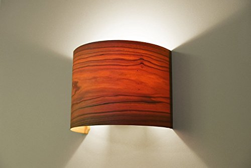 Bedroom Wall Lighting Fixture Lamp Cherry Arc Wood Veneer Lamp Shade