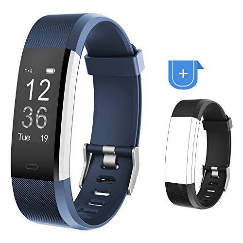 YAMAY Fitness Tracker, Fitness Watch Activity Tracker with Heart Rate Monitor, Sleep Monitor, Step Counter, Calories, 14 Sports Tracker, IP67 Waterproof, Slim Pedometer Watch for Men, Women and Kids