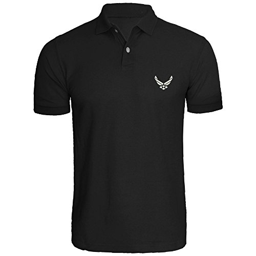 Mens Air Force USA Embroidered Polo Shirts Men Tee - Air Force Embroidered Polo Shirt