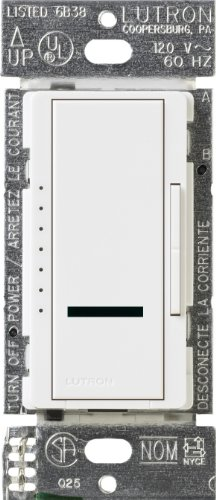 Lutron Lutron MIRLV-1000M-WH Maestro IR 800-Watt Multi-Location Magnetic Low-Voltage Dimmer, White