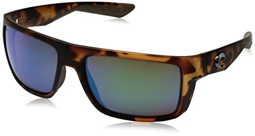 Costa Del Mar Motu Sunglasses, Black Teak, Green Mirror 580 Glass Lens (Sunglasses Inspired Couture)