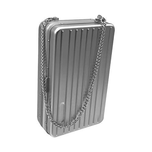 Women Bags Clutch Silver Beauty Handbag Metal Alloy Crossbody Chain Yaya FwxqqZIP5