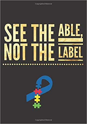 see the able not the label autism teacher gift lined journal