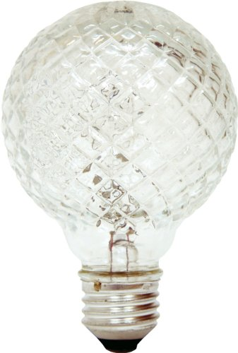 GE Lighting 16774 40-Watt Halogen Faceted G25 Vanity Light Bulb, ()