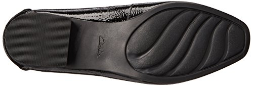 CLARKS Womens Keesha Luca Slip-On Loafer Black Patent Leather