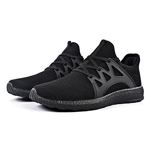 Sportivi da Uomo Corsa Scarpe da Ginnastica Sneakers QANSI Leggeri Scarpe Nero Confortevoli WFdYzWwSq