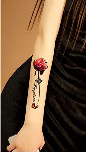 3D Flores y mariposas Tattoos Fake Tattoos joyas Tattoos 3D-51 ...