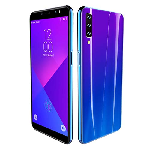 A7 Smartphone, 6.0 inch Dual HD Camera Android 8.0 1G+16G GPS 3G Call Mobile Phone Blue