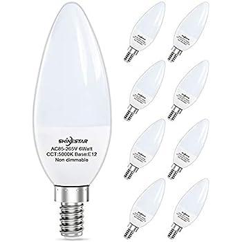 E12 Led Bulbs 6w Brightest 6000k 60w Equivalent Led