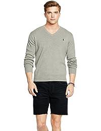 Polo Ralph Lauren Fine-Gauge Pima Cotton V-Neck Sweater