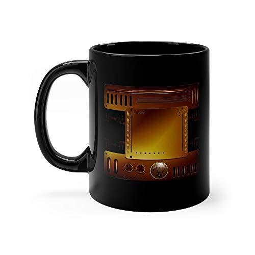 (Mechanical Background Steampunk Style Darth Favorite Drink Mug Ceramic 11 Oz)