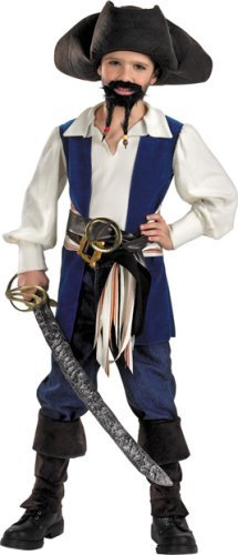 Captain Jack Sparrow Child Costume, Size 7-8 -