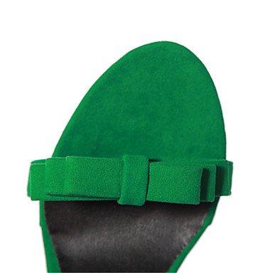 LvYuan Mujer-Tacón Stiletto-Zapatos del club-Sandalias-Oficina y Trabajo Vestido Informal-Terciopelo-Negro Morado Green