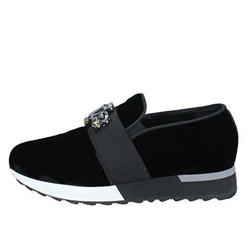 Jeannot Mocassini Slip On Donna 38 EU Nero Velluto