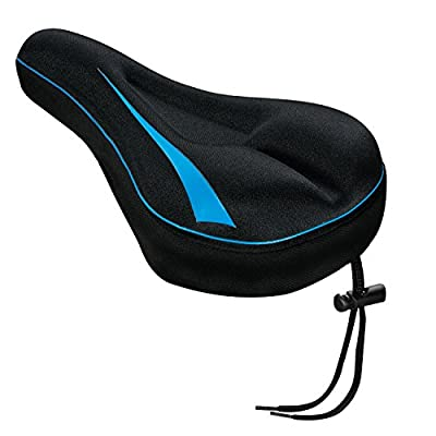 XwerX Components Gel Bike Seat Cover - Comfortable Bike Seat Cushion Soft Saddle Cover for Mountain Bike Stationary Exercise Bike, Outdoor or Indoor Cycling, Spinning Class