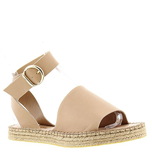 All Black Wrap Buckle Womens Sandal Nude