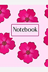 """Pink Floral Notebook: 8.5""""x11"""" Journal, 100 Lined Pages Paperback"""