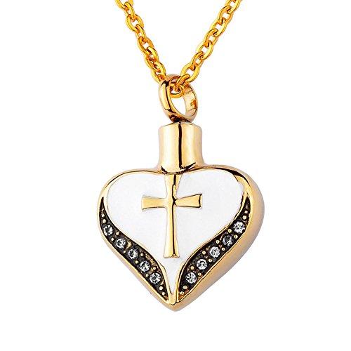 gold ash necklace urn - 1