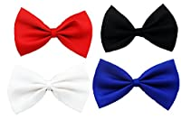 4 in 1 Pack - Bak Bak Handmade Bow Ties for Small Dogs / Cats / Pigs / Rabbits