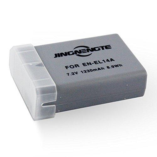JINGNENGTE Replacement Nikon EN-EL14 EN-EL14A Battery for Nikon D3100, D3200, D3300, D5100, D5200, D5300, D5500, DF, Coolpix P7000, P7100, P7700, P7800 DSLR Cameras