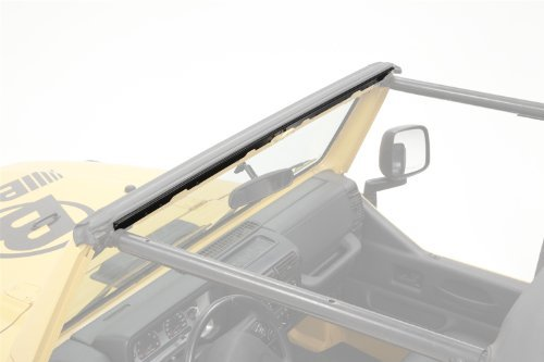 Drill Windshield Channel - Bestop 51210-01 Black Drill-in Style Windshield Channel for 97-02 Wrangler TJ by Bestop