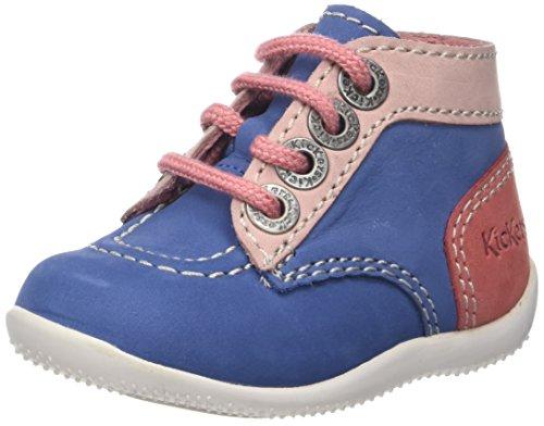 Kickers Bonbon, Chaussures Premiers Pas Bébé Mixte - Multicolore (Gris Marine Gris Clair) - 19
