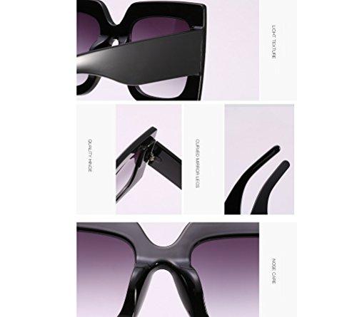 pour Gris de Carrés Femmes Soleil ZYXCC Lunettes Fashion Lunettes de YANJING Soleil Grandes Rivets Décoratives Lunettes de Soleil Vintage qwA1zUt