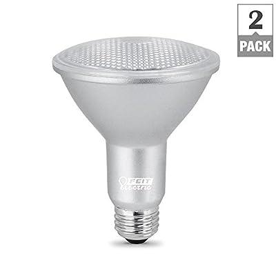 Feit Electric 75-Watt Equivalent PAR30 Dimmable LED ENERGY STAR 90+ CRI Flood Light Bulb, Daylight (2-Pack)