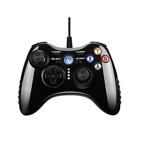 Gamepad, Computer USB Cable Pc360 Mobile TV Monster Hunter Handle, Pocket Retro Children Mini Game Console,Black