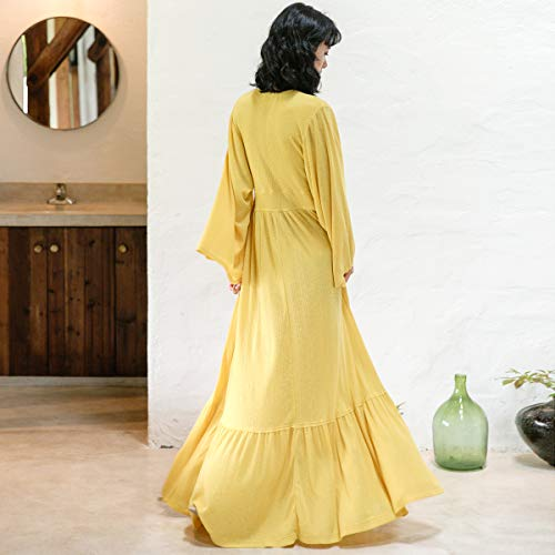 Dress Sleeve Style Queen National Loose Trumpet Bingqz Long Vacation Xl Swing Casual Ruffled tYqUW8w
