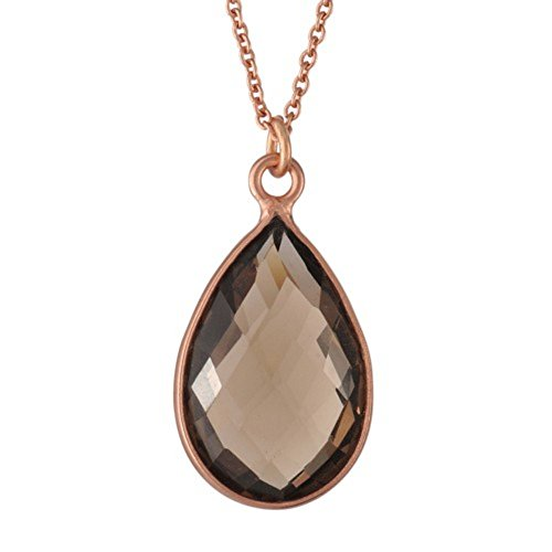 Nathis Beautiful Necklace with a Teardrop Shaped Smoky Topaz