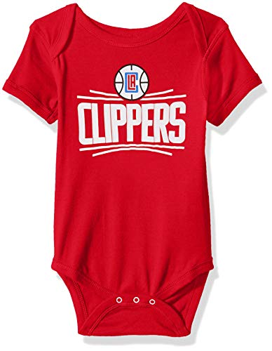 Outerstuff NBA NBA Newborn & Infant Los Angeles Clippers Primary Logo Short Sleeve Bodysuit, Red, 6-9 Months