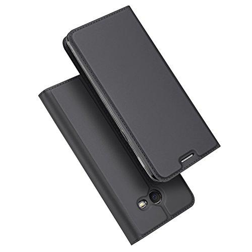 Samsung Galaxy J7 V Case, Galaxy J7 Perx Case , DUX DUCIS Skin Pro Series Ultra Slim Layered Dandy ,Kickstand,Magnetic Closure,TPU bumper,Full Body Protection for Galaxy J7 2017 (Gray)