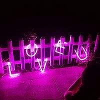 Rosa Letreros de neón Luz nocturna Luces LED de marquesina ...