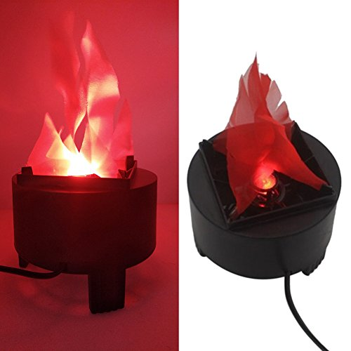 Giveme5 110V Electronic LED Tripod Flame Light Prop Fake Fire Lamp Prop- Great for Halloween Christmas Indoor Decoration (Fire Cauldron Fake)