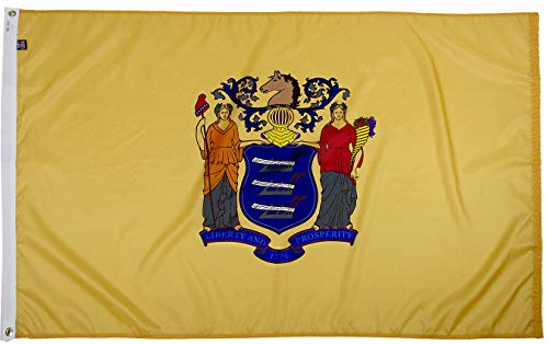 FlagSource New Jersey Nylon State Flag, Made in The USA, 3x5'