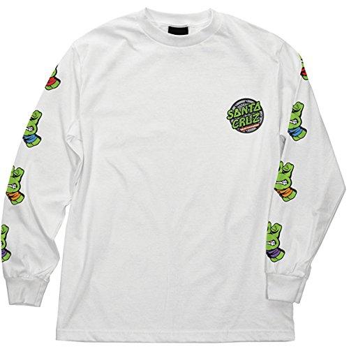 Santa Cruz Men's TMNT Sewer Dot L/S Shirts,Large,White