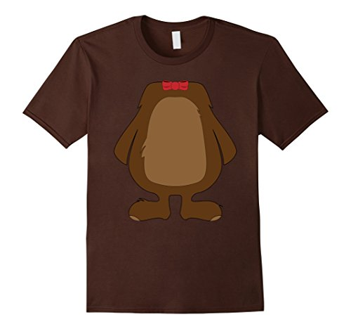 Hilarious Mens Halloween Costumes (Mens Funny Bear Costume Shirt - Hilarious Halloween Teddy Gift 3XL Brown)