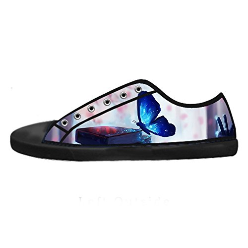 Chaussures De Toile De Femmes De Papillon De Vol De Couleur Faite Sur Commande Les Chaussures De Lacets Chaussures Baskets Montantes