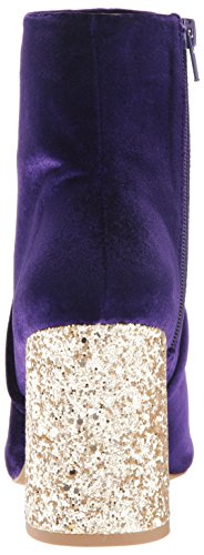 Johnson Women's Betsey Blue Velvet Purple Kacey Bootie Ankle by 61wHqxd
