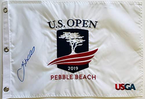 Gary Woodland signed 2019 U.S. open golf flag pebble beach with photo proof pga