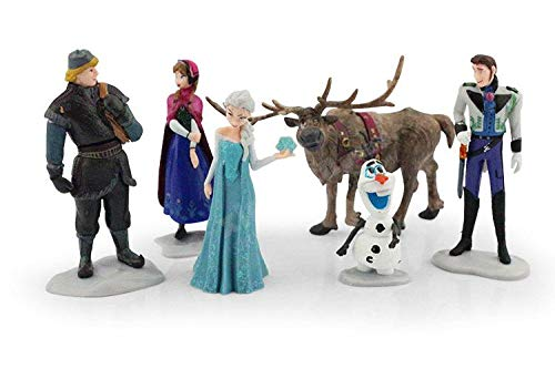 Frozen Collectible Model | 6 Piece Action Figure Set | Cake Topper ()