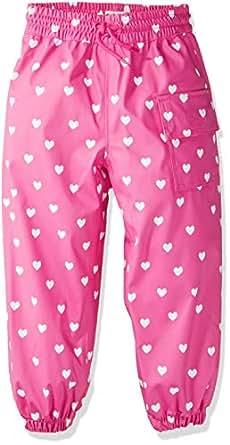Hatley Little Kids Splash Pants, Color Changing Multi Hearts, 2 Years