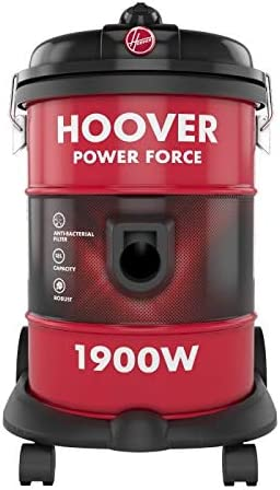 Hoover 1900W Powerforce Tank Vac Vacuum Cleaner - Red, HT87-T1-ME