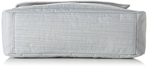 Kipling Matha, Bolsa de Medio Lado para Mujer, One Size Gris (Dazz Grey)