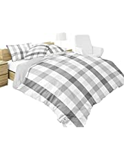 Juego de Edredón Individual Doble Vista Marca Polo HPC, Ideal para Todo el Año, Estampado Digital , Incluye 1 Funda de Almohada (50 x 70 cm), Fácil Lavado en Casa. Twin Size Blanket