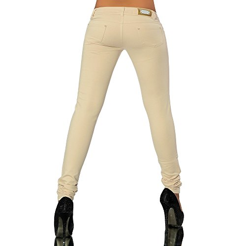 hauteur tube leggings pour leggings femme look skinny pantalon treggings G701 Beige jean Beige vBOHpFq