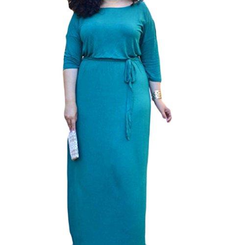 Luce Altalena Di Vestito Di Svasato Colore Una donne Grandi Coolred 2 Lunga Manica Dimensioni Blu Linea 1 Pura n4ZqRC